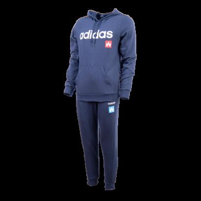 """adidas melegítőszett, kék, felnőtt """"fehér vár"""" logóval"""