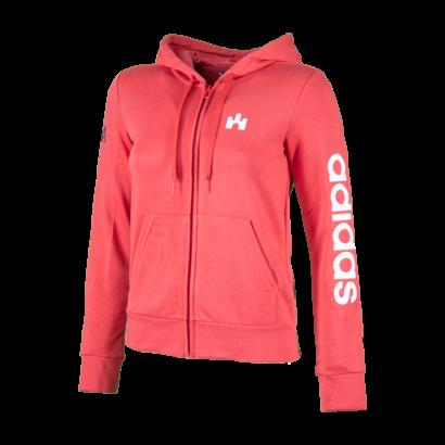 "adidas kapucnis, cipzáras pulóver, piros, női ""1941"" felirattal"