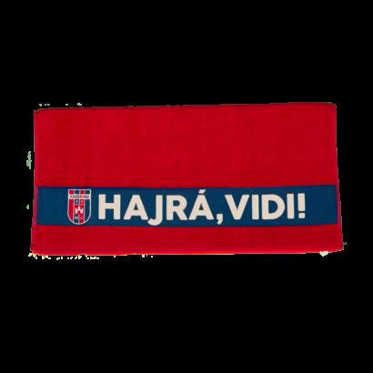 """Törölköző, piros """"MOL Fehérvár FC"""" címerrel"""