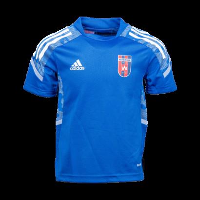 adidas edzőpóló 2021/2022, kék, gyermek