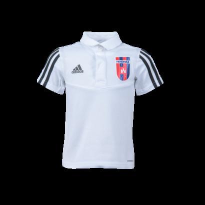 adidas gálapóló 2021/2022, galléros, fehér, gyermek
