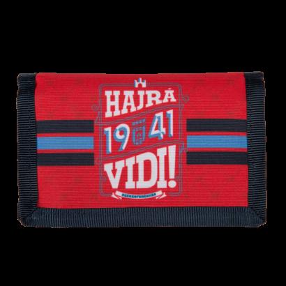 """Pénztárca, piros """"1941 Hajrá, Vidi!"""""""