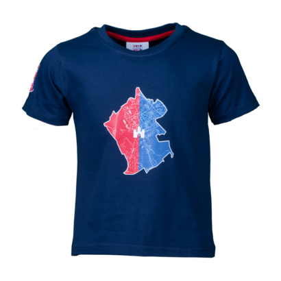 """Kereknyakú póló, kék, gyermek """"MOL Fehérvár FC"""" címerrel"""