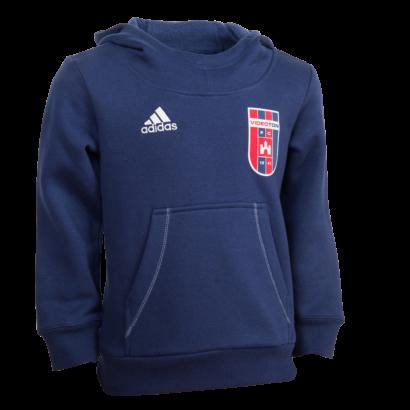 """adidas kapucnis pulóver, kék, gyermek """"Videoton"""" címerrel"""