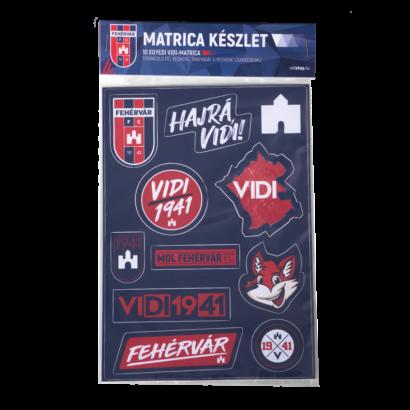 """Matrica készlet """"MOL Fehérvár FC"""" címerrel"""