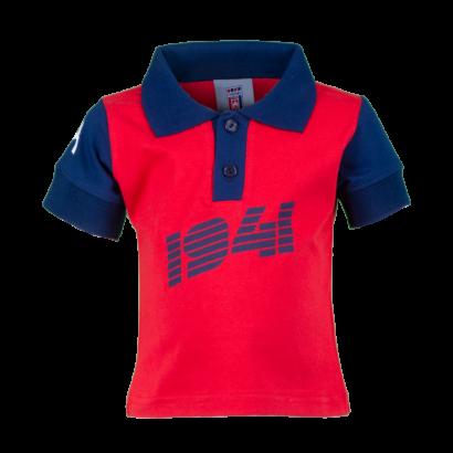 """Galléros póló, piros-kék, baby """"1941"""" felirattal"""