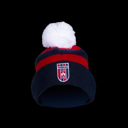 """Sapka, kötött, piros-kék """"MOL Fehérvár FC"""" címerrel"""