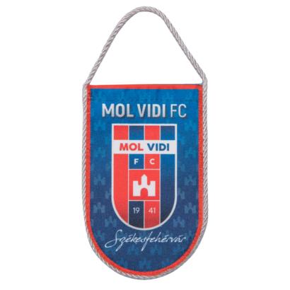"""autós zászló, selyem """"mol vidi fc"""" címerrel"""