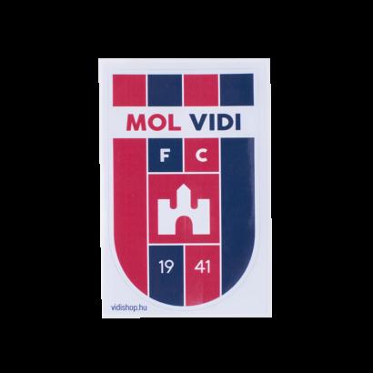 "matrica nagy ""mol vidi"" címerrel"