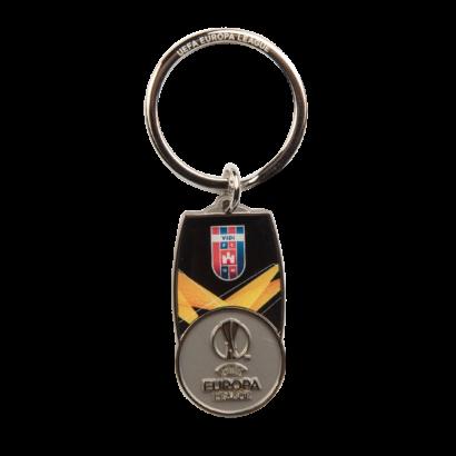 kulcstartó, fém, uefa europa league