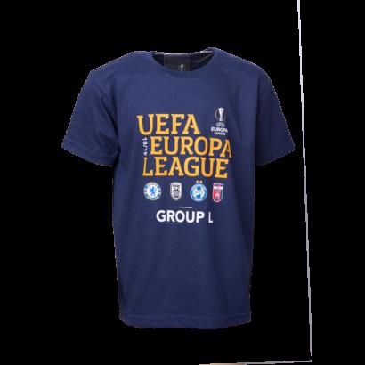 """kereknyakú póló, kék, gyermek, """"Group L"""""""