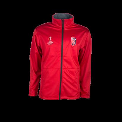 softshell kabát, piros, felnőtt, europa league