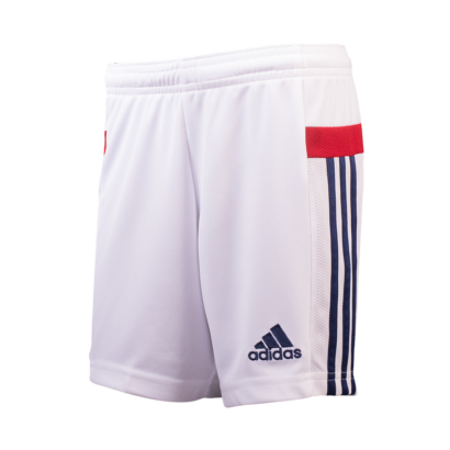 Adidas csapat short, idegenbeli, fehér, felnőtt