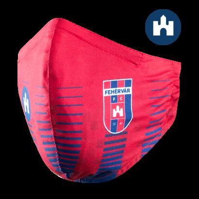 """Szájmaszk, piros, felnőtt """"MOL Fehérvár FC"""" címerrel"""