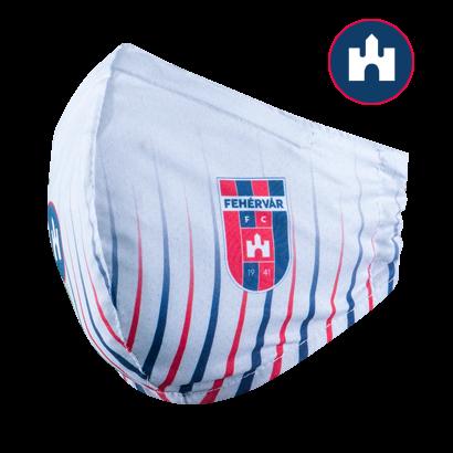 """Szájmaszk, fehér, felnőtt """"MOL Fehérvár FC"""" címerrel"""