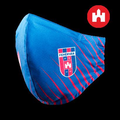 """Szájmaszk, sötétkék, felnőtt """"MOL Fehérvár FC"""" címerrel"""