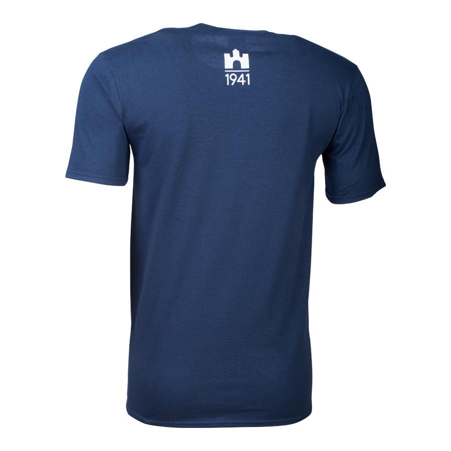 """ae5aa21614 kereknyakú póló, kék, férfi, """"Hajrá, Vidi!"""" - Férfi póló"""
